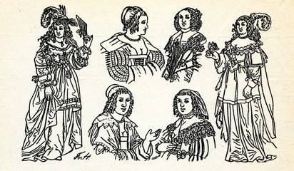 Women's fashion (end of 16 and 17 century)