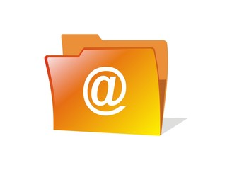 isolated vector email folder