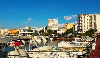 Boats at  mediterranean town. L'Ampolla