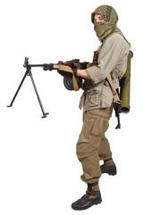 rebel with machine gun