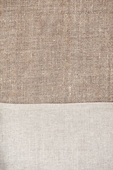 Burlap background with linen cloth