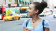 Beautiful Mixed Race Woman in New York