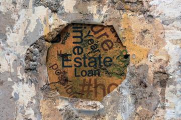 Estate loan concept