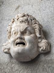 Ancient roman head statue