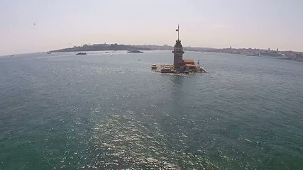 aerial istanbul kız kulesi  virgin tower - Maiden's Tower