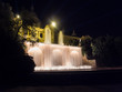 Fountain with movement water in Montjuic