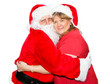 Mrs Claus Hugs Santa