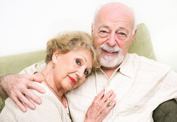 Loving Senior Couple at Home