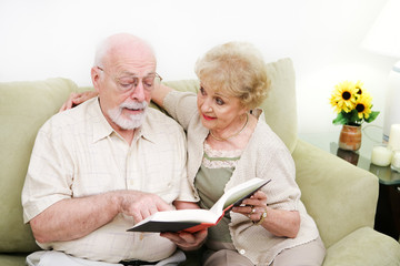 Senior Couple Adult Literacy