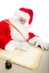Santa Writing List on Parchment