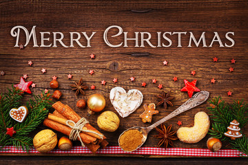 Weihnachtskarte - Merry Christmas - Vintage