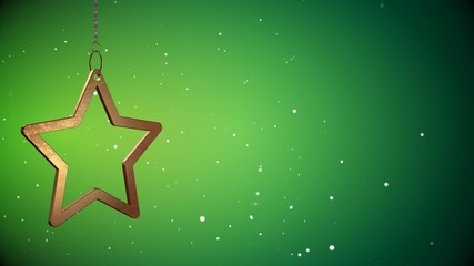4K VID - Golden Christmas Star Tag