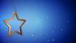 4K VID - Golden Christmas Star Tag