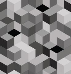 Optical cubes seamless pattern.