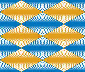 Seamless rhombus pattern, abstract geometric background, vector