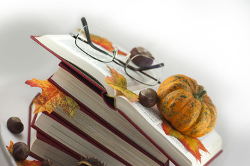 Autumn Books and Glasses 03