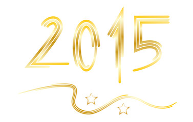 Neujahr 2015 - Jahreszahl mit Sternen