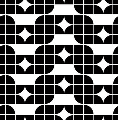 Abstract geometric seamless pattern, contrast regular background