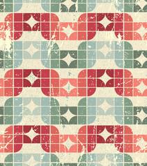 Vector worn textile geometric seamless pattern, decorative squar