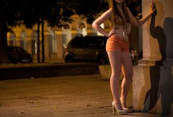 Prostitute waiting for somebody