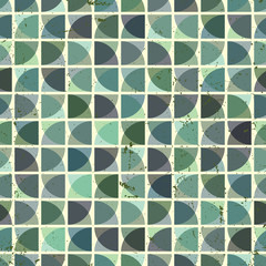Vintage bright geometric seamless pattern, vector squared abstra
