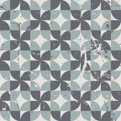 Geometric seamless pattern with diamonds and crosses, vintage or