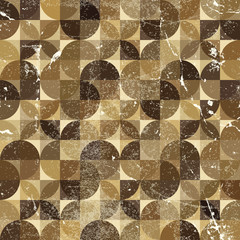 Vintage tattered seamless pattern, vector overlapping abstract b