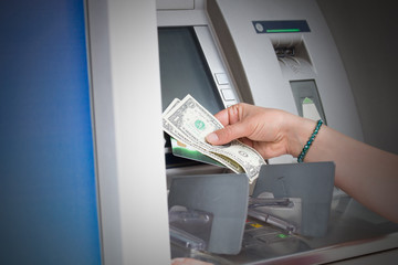 Cash withdrawal on the ATM