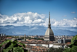 Panoramic view of Turin city center, in Italy