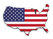 USA Flag Map 3d Shape - 70773166