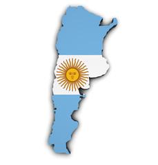 Argentina Flag Map Shape