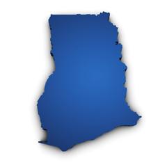 Map Of Ghana 3d Shape