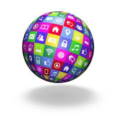 Web Social Media Globe
