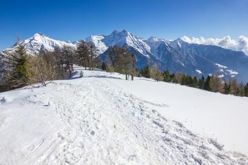 Paesaggio invernale di montagna