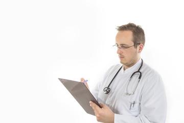 Young Doctor with clipboard