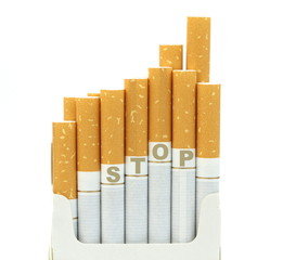 Stop smoking, on white background.