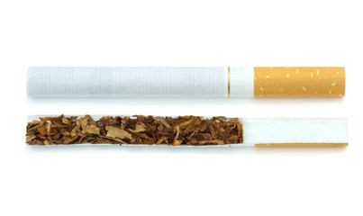 Cigarette and content, ( cross-section )