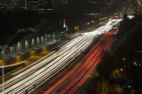 Foto op Aluminium Nacht snelweg San Diego Freeway in West Los Angeles