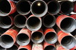 Stack of oil well intemediate casing bundles - 70774379