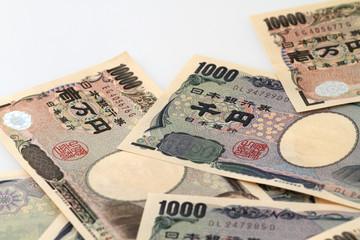 日本円 白バック