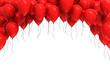 Obrazy na płótnie, fototapety, zdjęcia, fotoobrazy drukowane : Background of red balloons