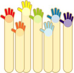Vertical  decorative hands