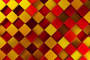 Red and gold blocks abstract background