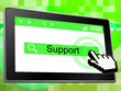 Online Support Shows World Wide Web And Help