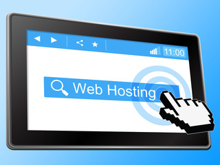 Web Hosting Means Webhost Website And Www