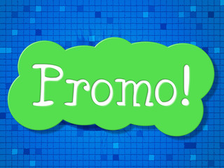 Sign Promo Represents Sale Offer And Reduction