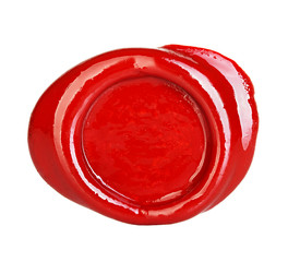 red wax seal isolated on white background