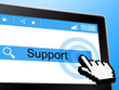 Online Support Represents World Wide Web And Knowledge