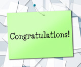 Sign Congratulations Means Accomplish Achieve And Signboard poster