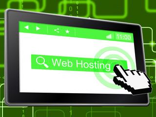 Web Hosting Indicates Internet Webhosting And Server